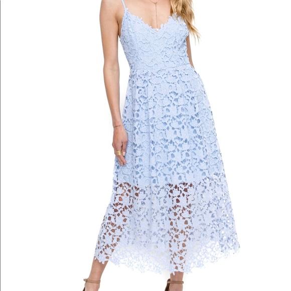 9b7f398212a5 Astr Dresses   Skirts - ASTR The Label Lace A Line Midi Dress